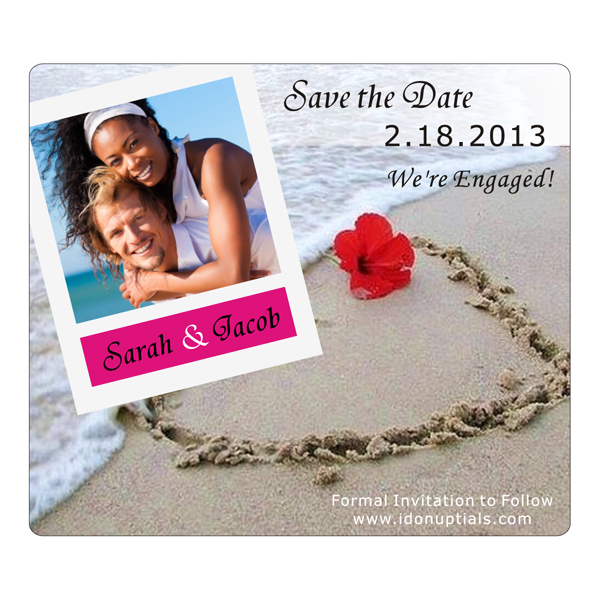 Tampa FL bride and grooms get ready for Save the Date Wedding Magnets